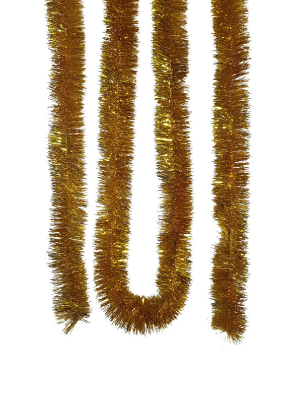 Tinsel 5.5m (18ft) 4 ply – 50mm GOLD