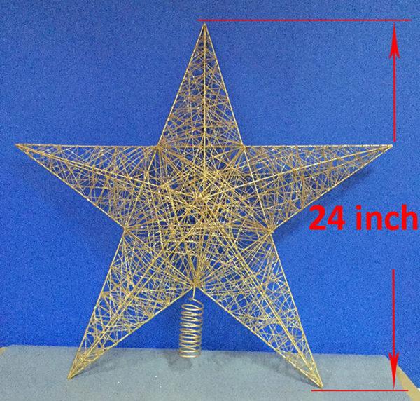 Star Tree Topper Gold 61cm