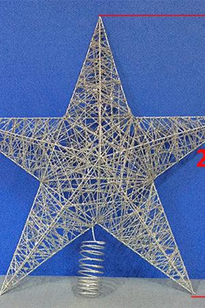 Star Tree Topper Silver 61cm