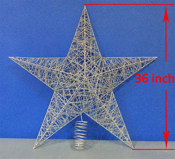 Star Tree Topper Silver 91cm