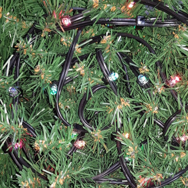 Commercial Christmas Lights LED x 100 Colour Changing LED with Black cord (Indoor)
