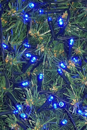 Christmas Tree LED light string x 160 with Blue Lights with green cord