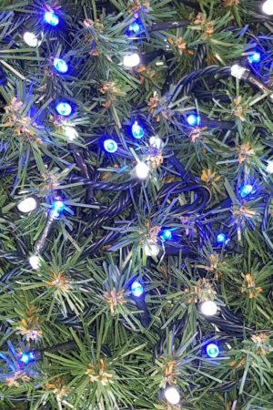 Christmas Tree Light string x 160 with Alternate LED's  with Alternate Lights Blue/White