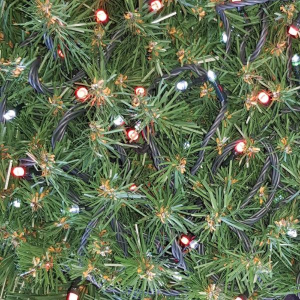 Christmas Tree Light string x 160 with Alternate LED's  – Red/ White Lights
