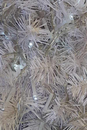 Christmas Tree LED light string x 160 White Lights with translucent cord