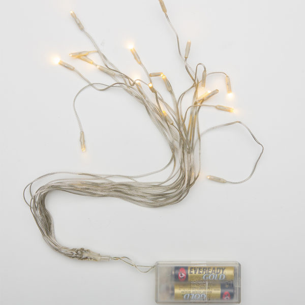 Mini Battery Operated LED 20 Strings of Warm White Lights