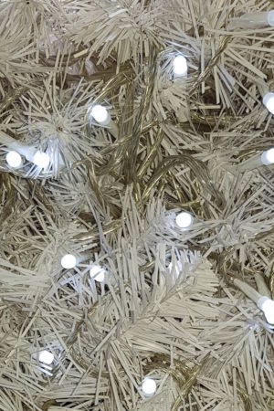 Wedding Lights x 100 White LED STATIC with Translucent cord