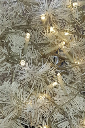 Wedding Lights x 100 Warm White LED STATIC with Translucent cord