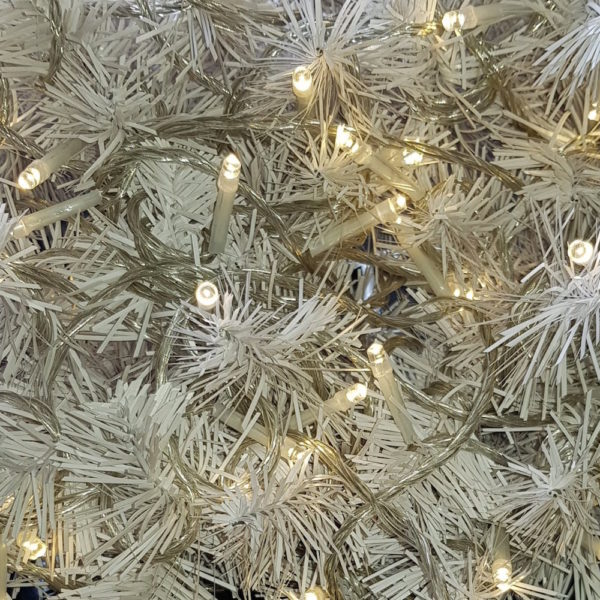 Christmas Tree LED light string x 160 Soft Yellow Lights with translucent cord