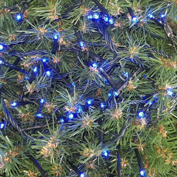 Christmas Tree LED Rice Lights x 160 Blue with Green cord