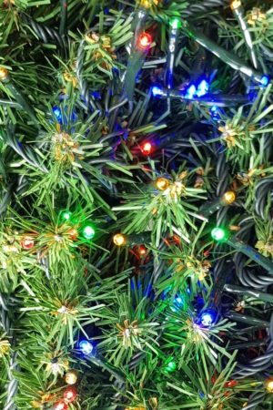 Christmas Tree LED Rice Lights x 160 Multi with Green cord