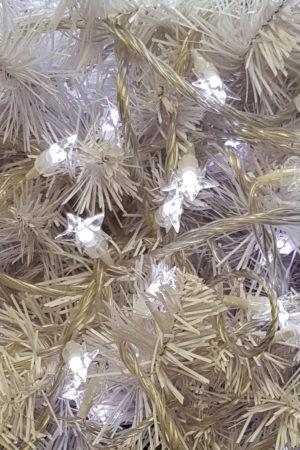 Christmas Tree Star string White LED Lights x 160 with translucent cord