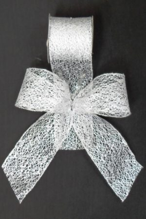 Ribbon Meshed Fine Weave Silver