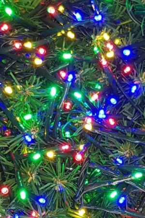 200 LED 2 way Connecting String Lights for Christmas Tree or Garland Multi Coloured