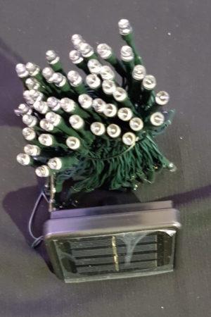 Solar Power Christmas Garden LED light string x 200 Warm White Light