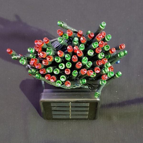 Solar Power Christmas Garden LED light string x 200 Multi Colour Light