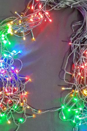 Icicle LED Christmas light string x 200 Multi Colour