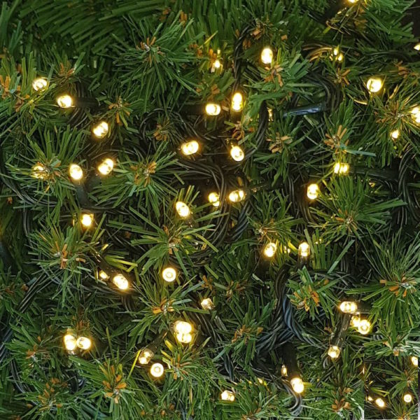 100 LED Christmas Connecting String Warm White (Soft Yellow) Indoor/Outdoor