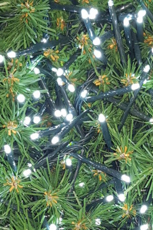 Lights for Christmas Tree or Garland 200 LED Single String White