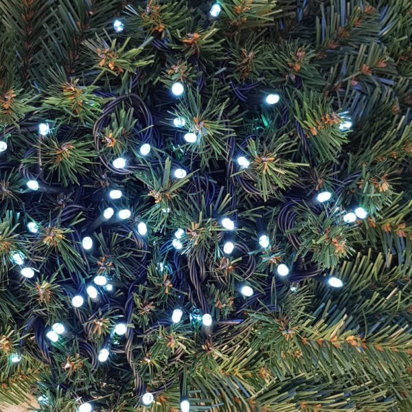 100 LED Christmas Connecting String White Indoor/Outdoor