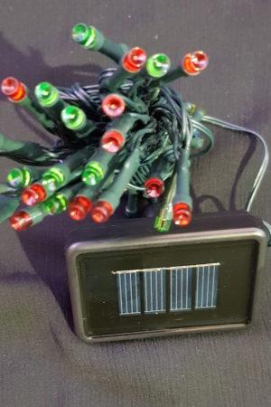 Solar Power Christmas Garden LED light string x 50 Multi Colour Light