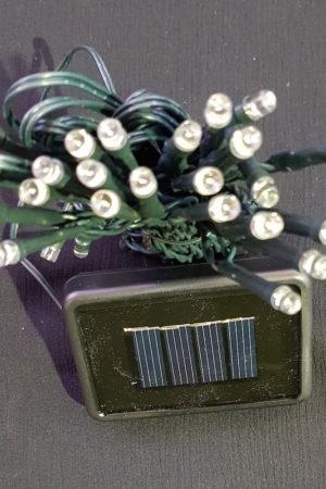 Solar Power Christmas Garden LED light string x 100 with White Light