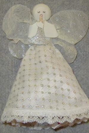 Angel Tree Topper Silver