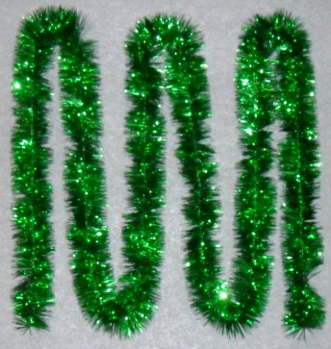 Tinsel 5.5m (18ft) 4 ply – 100mm Green