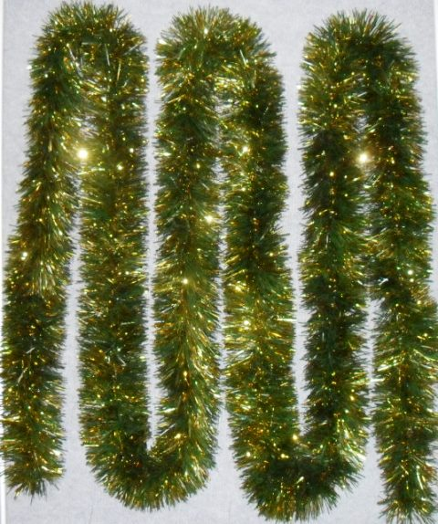 Forest Garland 5.5m (18ft) 10 ply – 150mm Green/Gold