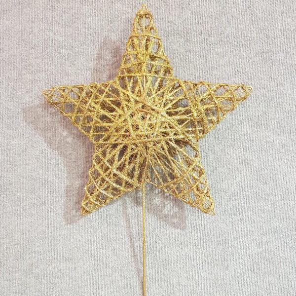 Star Tree Topper Gold 40cm