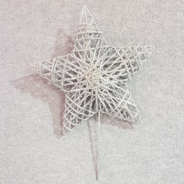 Star Tree Topper Silver 30cm