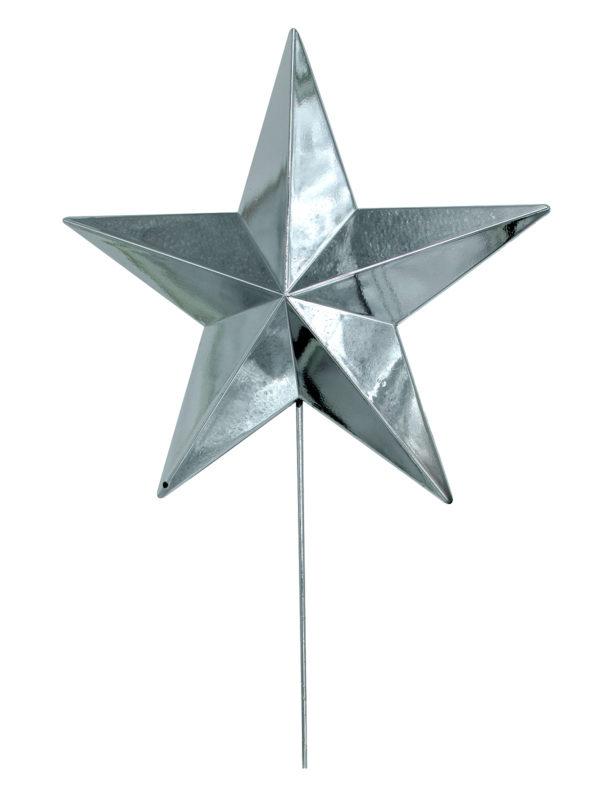 Star Christmas Tree Topper 30cm Silver