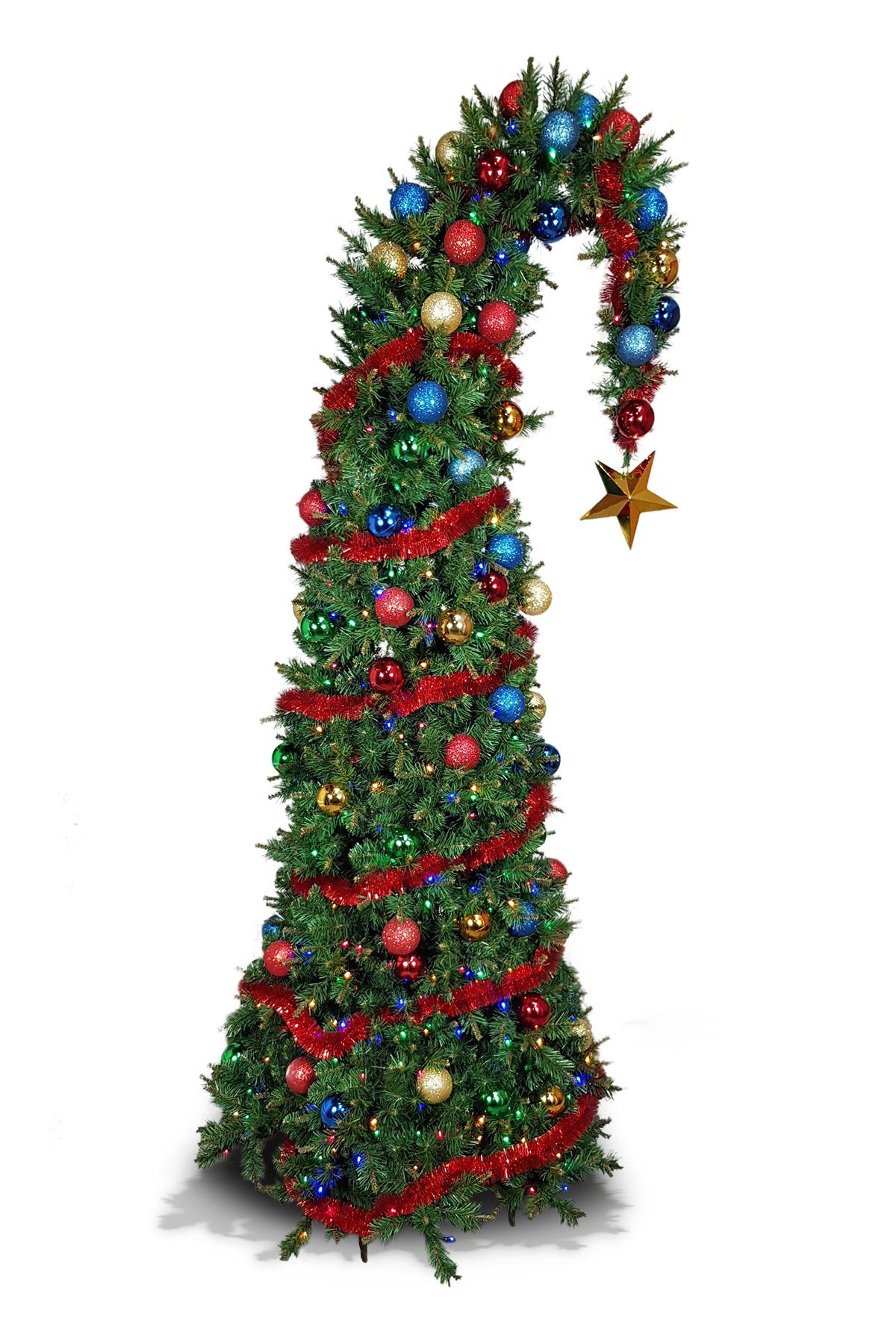 Santa Hat Christmas Tree
