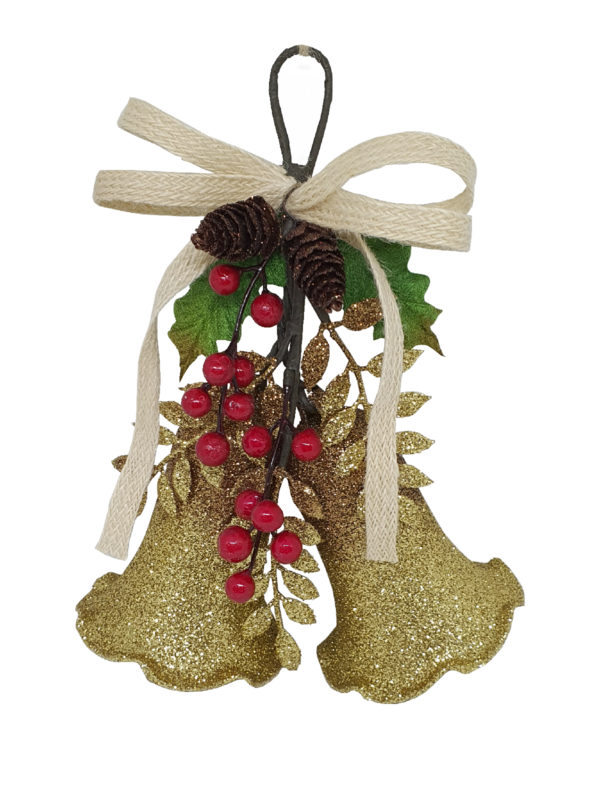 Bell Double Christmas Decoration Gold