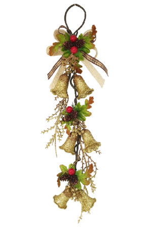 Bell Mini Garland, Christmas Decoration 46cm Gold