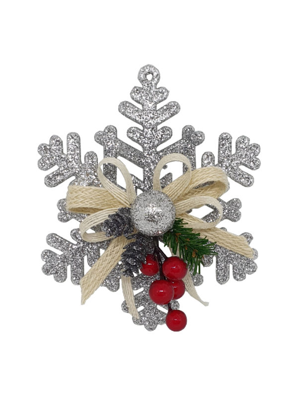6 inch Snowflake Christmas Decoration 15cm Silver