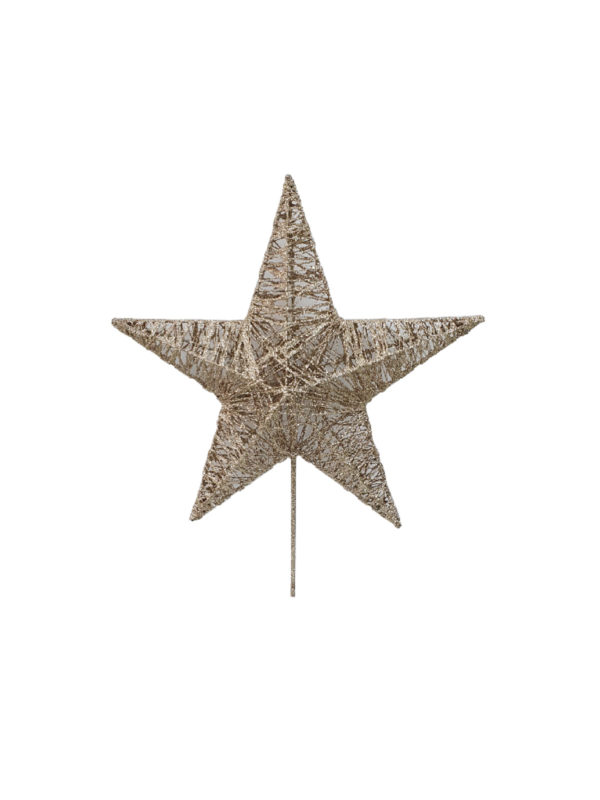 8.5 inch Star Christmas Tree Topper 22cm Champagne