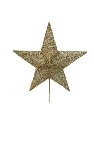 Star Christmas Tree Topper 22cm Gold