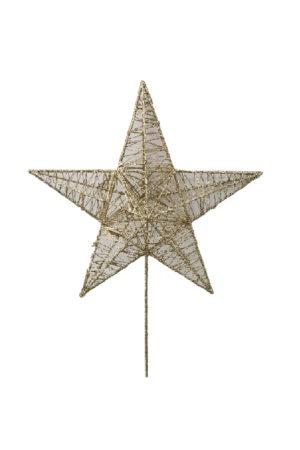 Star Christmas Tree Topper 33cm Gold