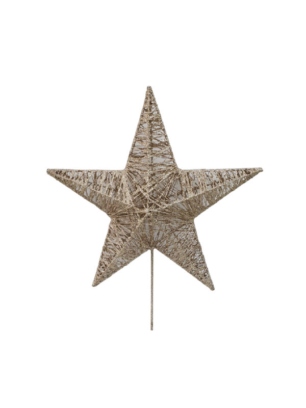 15 inch Star Christmas Tree Topper 38cm Champagne