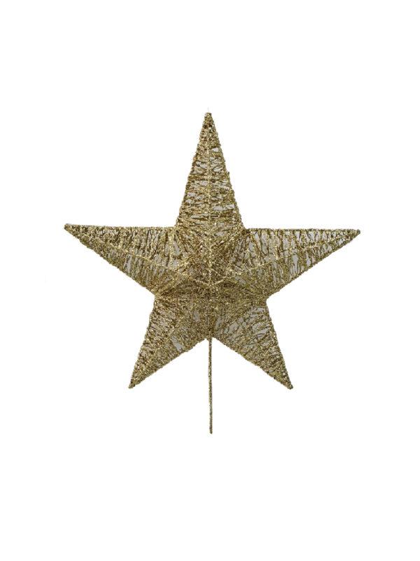 15 inch Star Christmas Tree Topper 38cm Gold