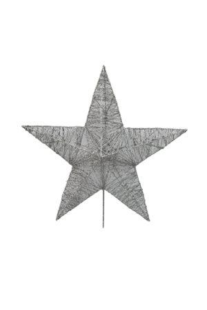 15 inch Star Christmas Tree Topper 38cm Silver