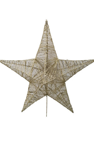 25 inch Star Christmas Tree Topper 64cm Gold