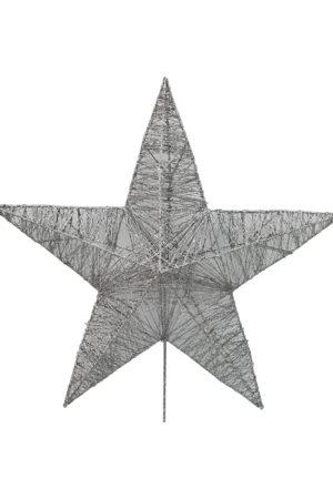 25 inch Star Christmas Tree Topper 64cm Silver