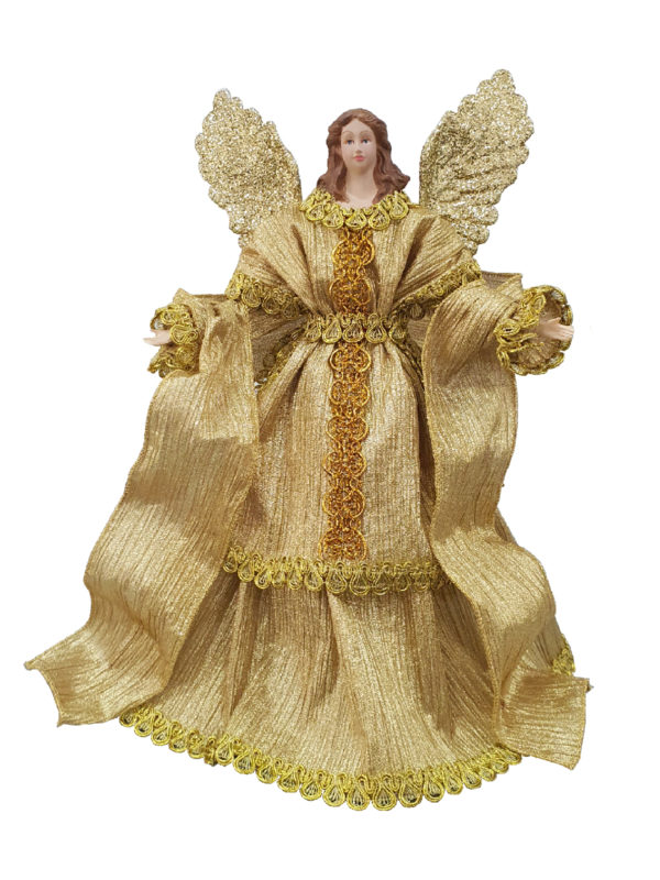 14 inch Angel Christmas Tree Topper 36cm Gold