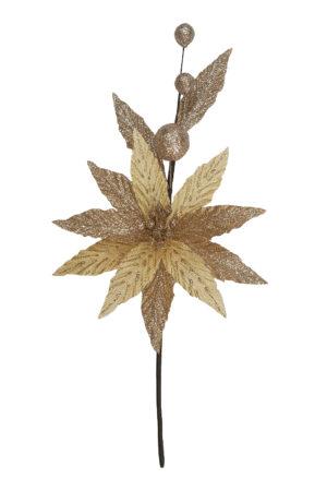 13.5 inch Poinsettia Pick 34cm Champagne