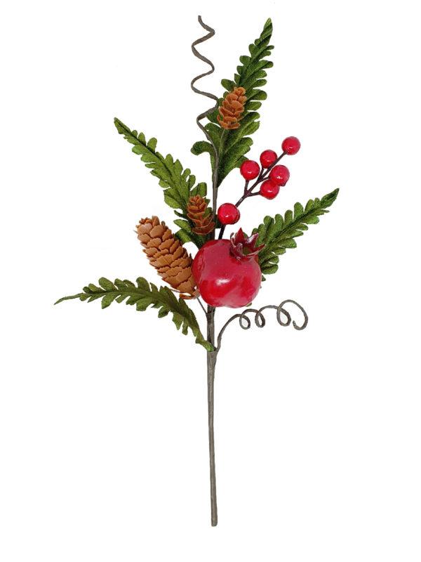 13 inch Pomegranate Pick 33cm