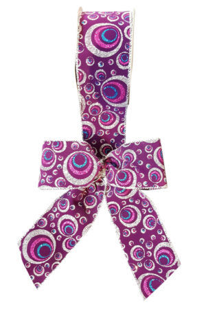 Bow Swirls on Purple ( Pack of 10)