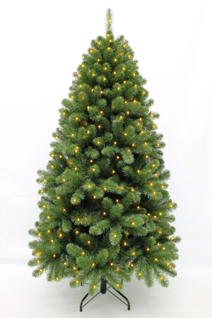 6.5ft Stockholm Christmas tree Hinged 1.98m Prelit with 360 Warm White LED's