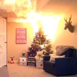 Real Xmas Trees can catch on fire easily